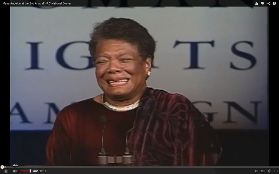 A Poem That Maya Angelou Recited Over 15 Years Ago Can Still Inspire You Today