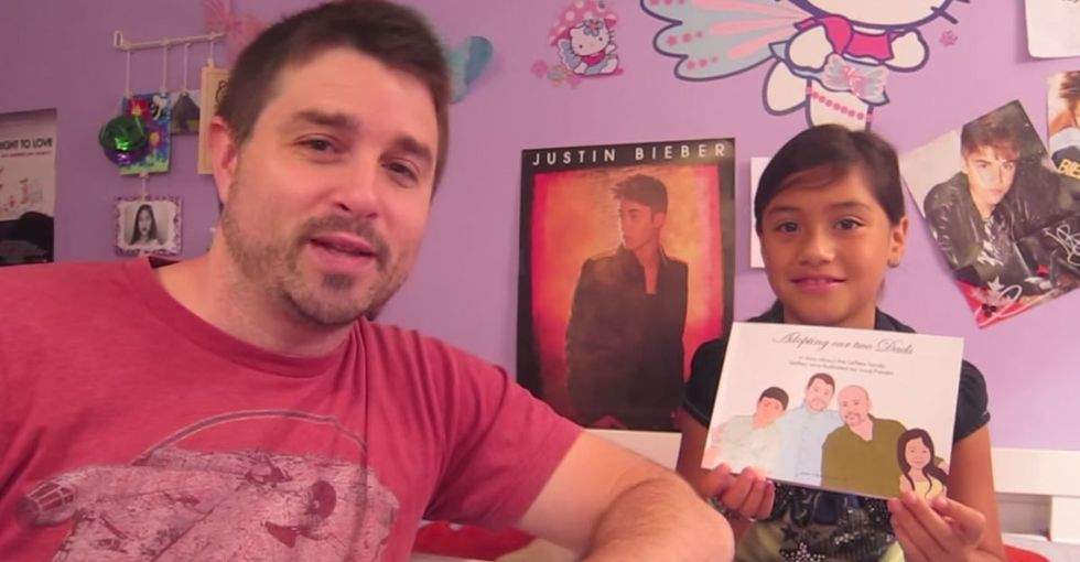 A Sweet Little Girl Reads A Sweet Story About How Her 2 Dads Met And Created A Family