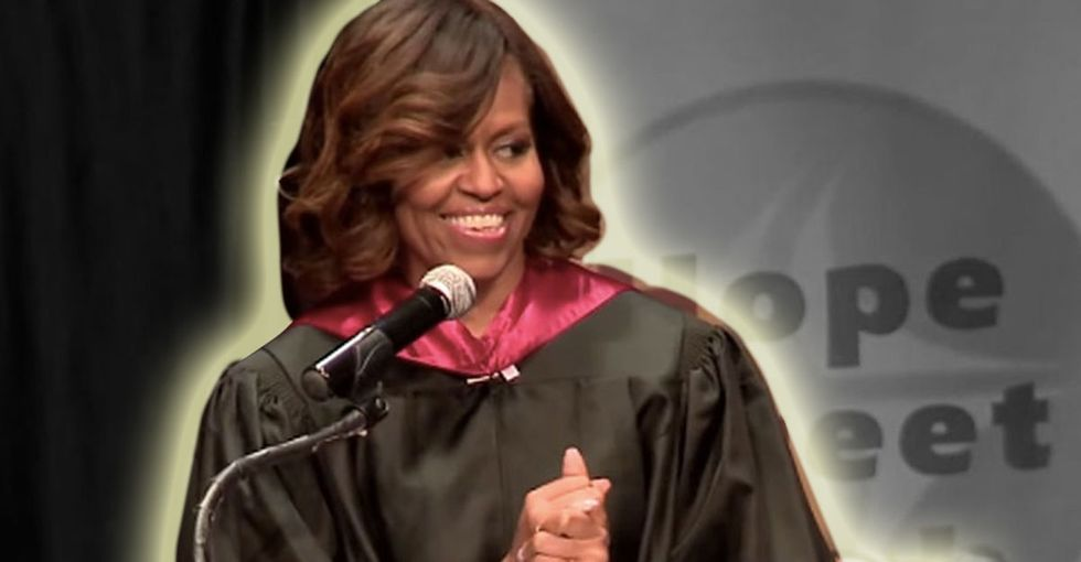 The First Lady Points Out That, Technically, We Don't Have To Get Along. No Lies Detected.