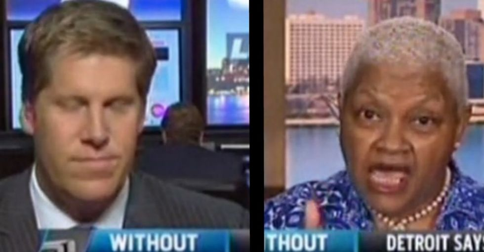 An Older Woman Tells A Younger Man He Ought To Check His Facts. (It's Kinda Fun To Watch.)