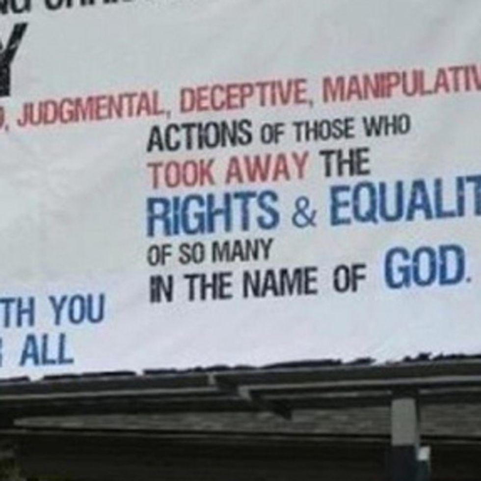 You'll Never Guess Who Paid For This Pro-Marriage-Equality Billboard In North Carolina