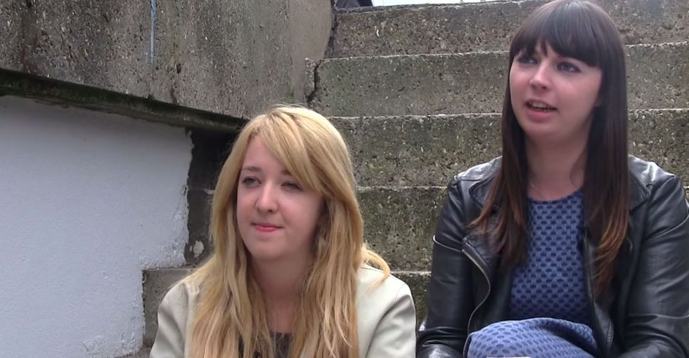 Just A Couple Of Women Sitting On Stairs Breaking Down Everything That's Wrong With The Media