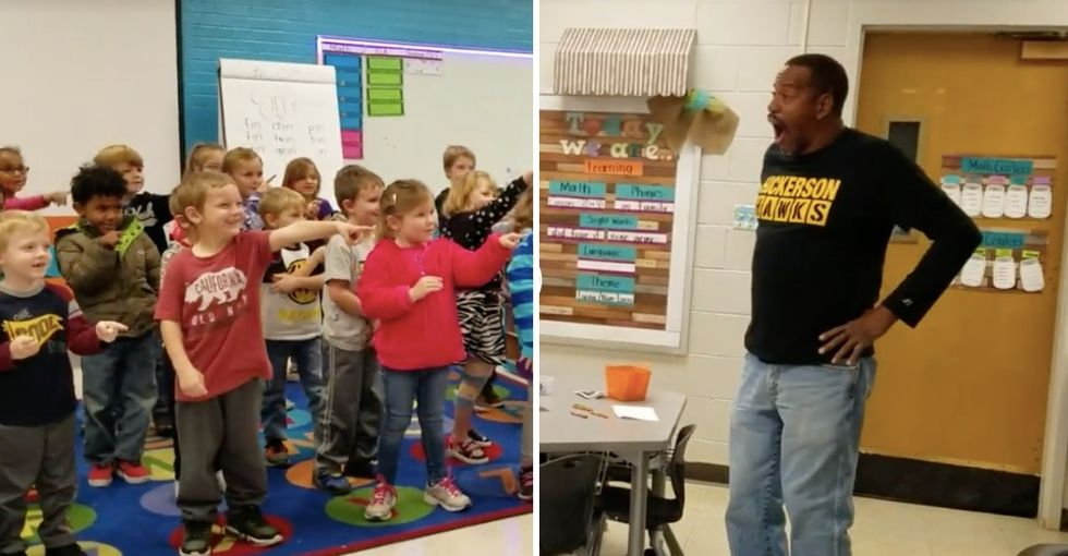 These kindergarteners surprised their school's deaf custodian by signing the entire 'Happy Birthday' song.