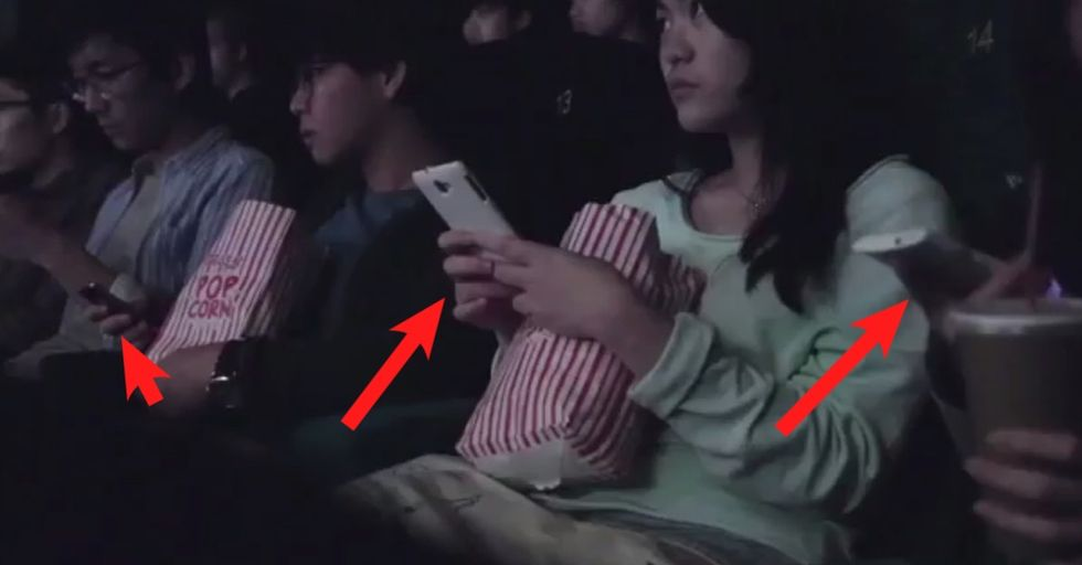 A movie theater got its audience to use their phones so it could teach them a lesson