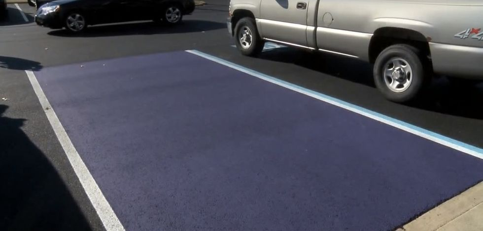 Purple parking spots show how a small gesture can make a heartfelt impact on our vets.