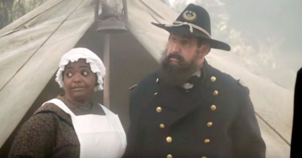 Octavia Spencer takes a hilariously educational turn as Harriet Tubman on 'Drunk History.'
