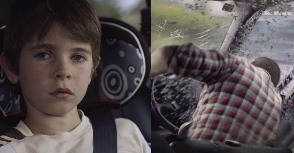 The Moment Before A Horrible Car Crash, The Kid's Dad Asked The Other Driver For Help. He Declined.