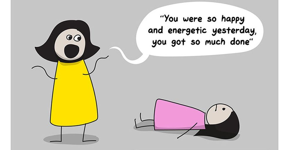 A comic that accurately sums up depression and anxiety — and the uphill battle of living with them