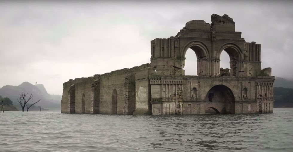 Check out this church from the 1500s that appeared in a body of water, due to a drought.