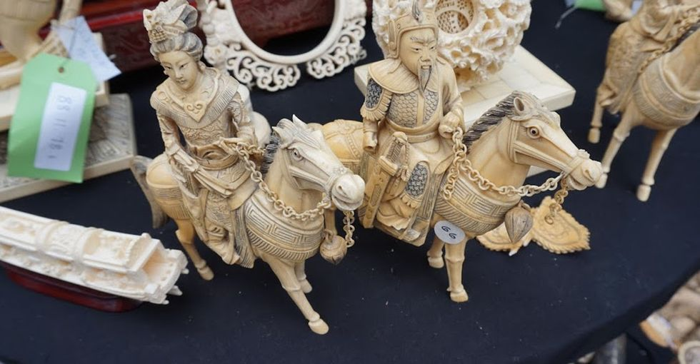 These ivory carvings are one-of-a-kind. Today, they were destroyed, and not a moment too soon.