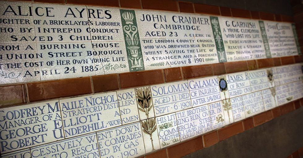This obscure London memorial is filled with heart-wrenching tales of everyday heroism.