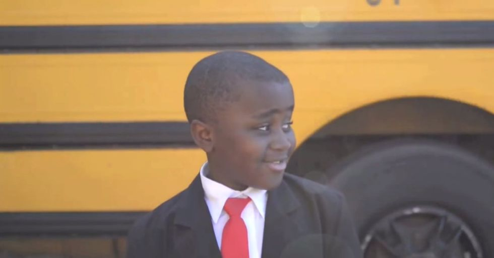 Imagine if every school played this Kid President 'pep talk' before class.