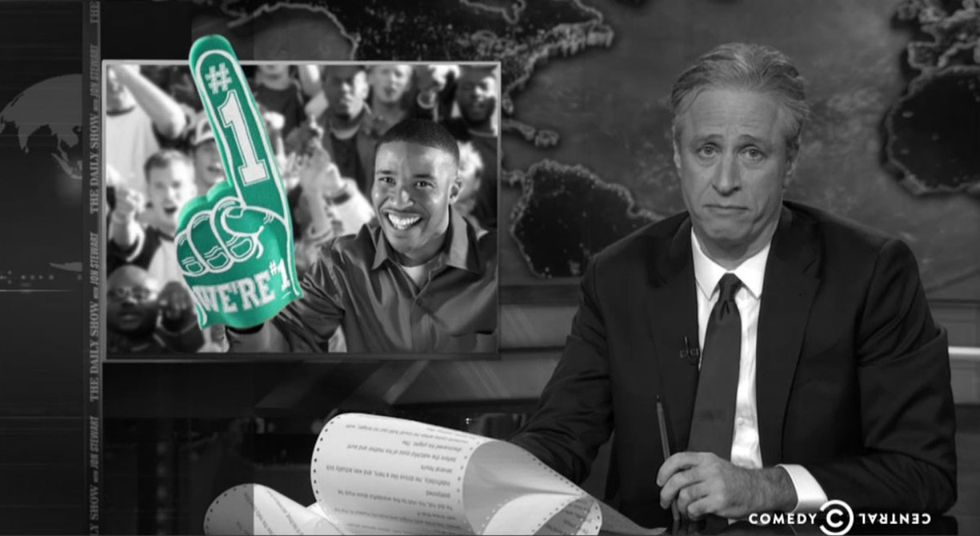 Jon Stewart Adds 1 More Thing To The List Of Innocent Things Black People Do That Look Suspicious