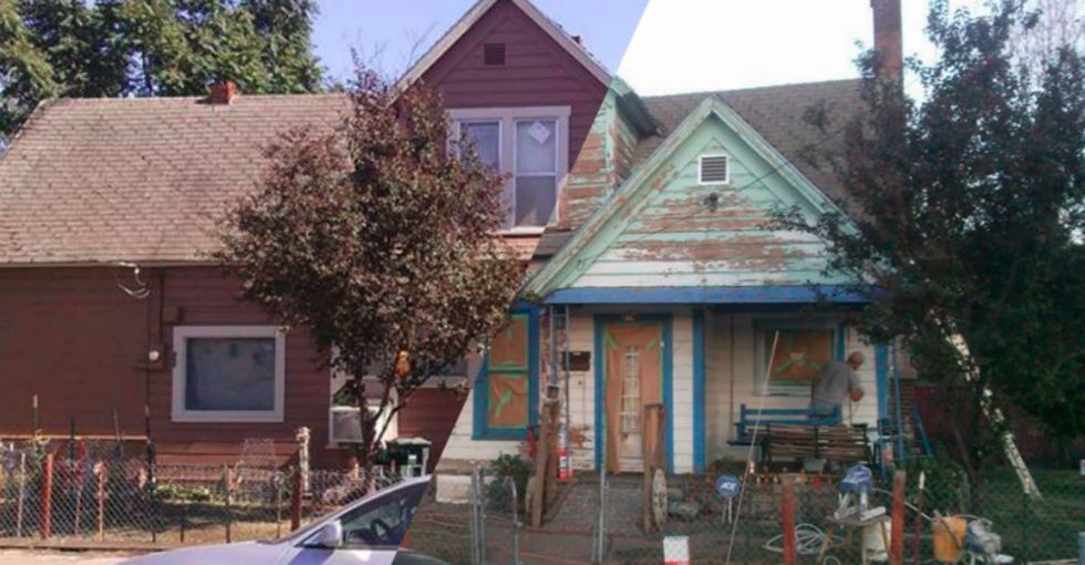 A man asks online for volunteers to repaint an elder neighbor's home. He gets over 6,000 responses.