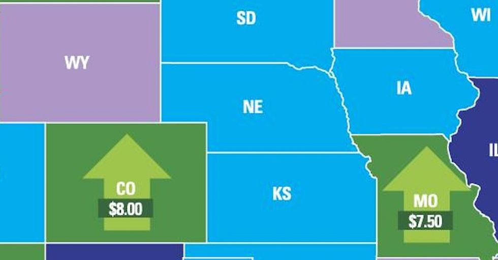 Here's A Map. If Your State Is Shaded Green, Folks Are Likely Doing Better Than Some Other States.
