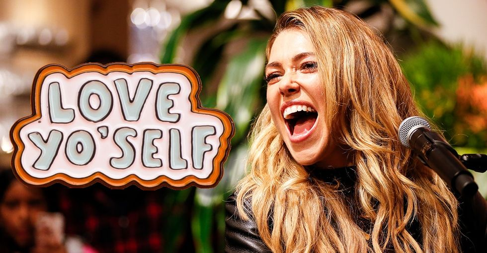 'Fight Song' singer Rachel Platten designed a stylish new pin for a great cause.