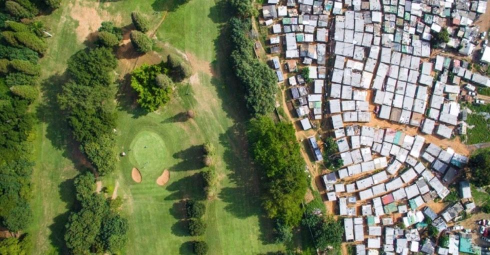 See the lingering effects of apartheid in these stunning aerial images.