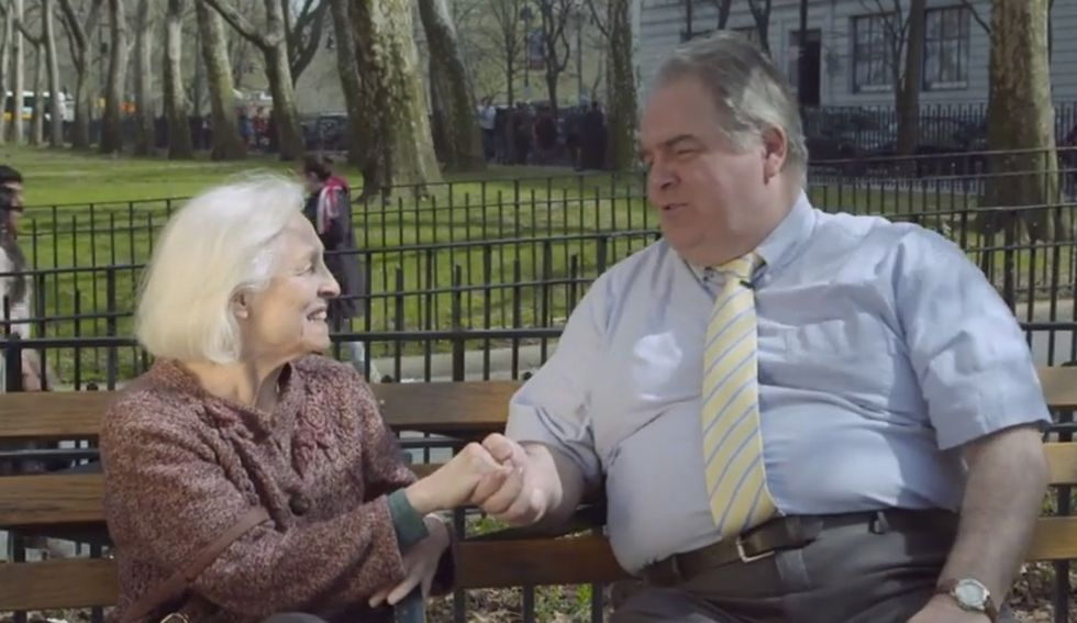 A Politician Pretends To Like Old People For 10 Seconds