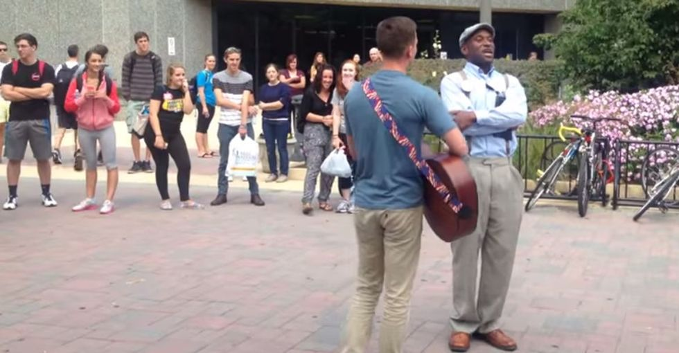 A Homophobic Preacher's Message Was Stopped Short By The Students He Was Hoping To Reach