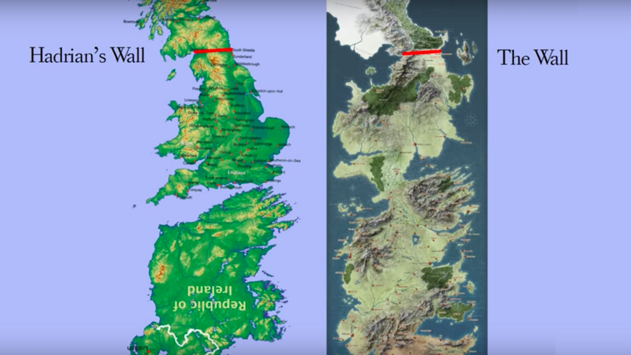Why the south of Westeros is the north of Ireland