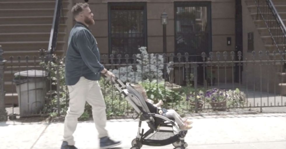 Macho Man Stereotype Smashed, Every Time He Pushes That Stroller Down The Street