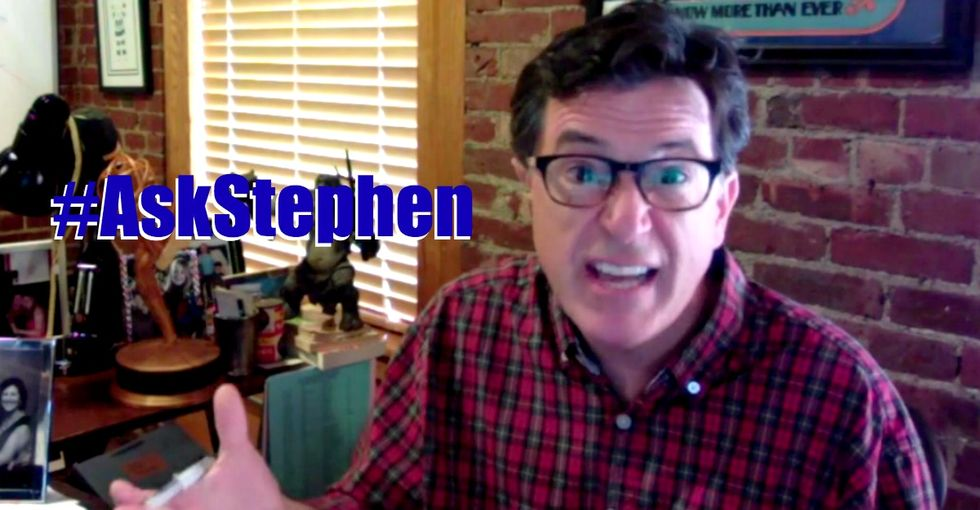 Stephen Colbert Goes All 'Dad' On Some Teens With Questions About Harassment And Lying Boyfriends