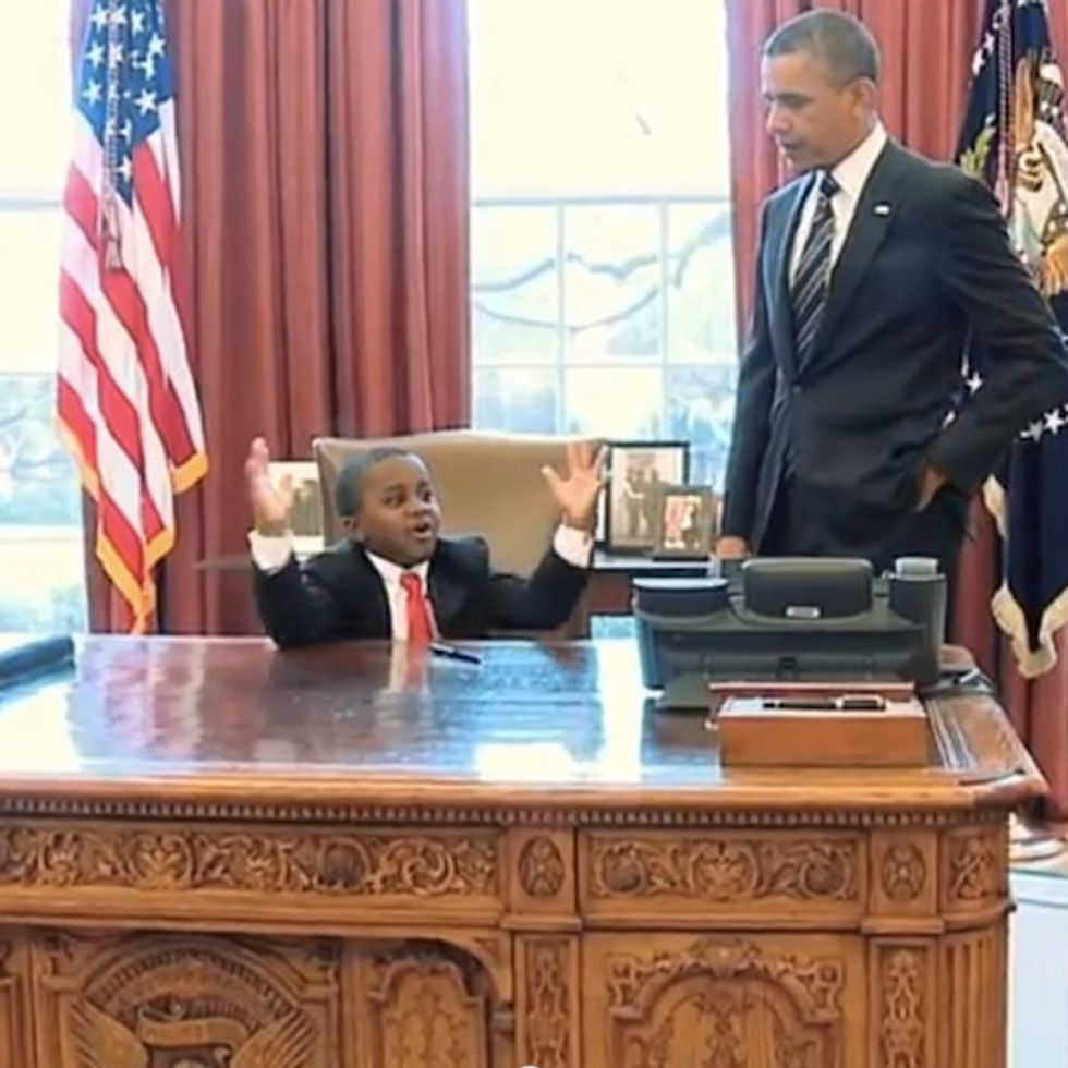 Now Here's A President Who Gets Kids