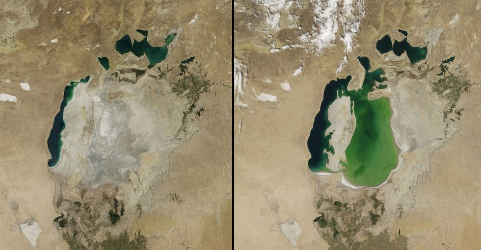 The 4th-Largest Lake Just (Poof) Disappeared, And Here's A Map To Show You How Fast It Happened