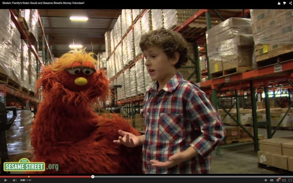 Nolan Gould Talks To A Fuzzy Puppet About Hunger, And It's Actually Really Great