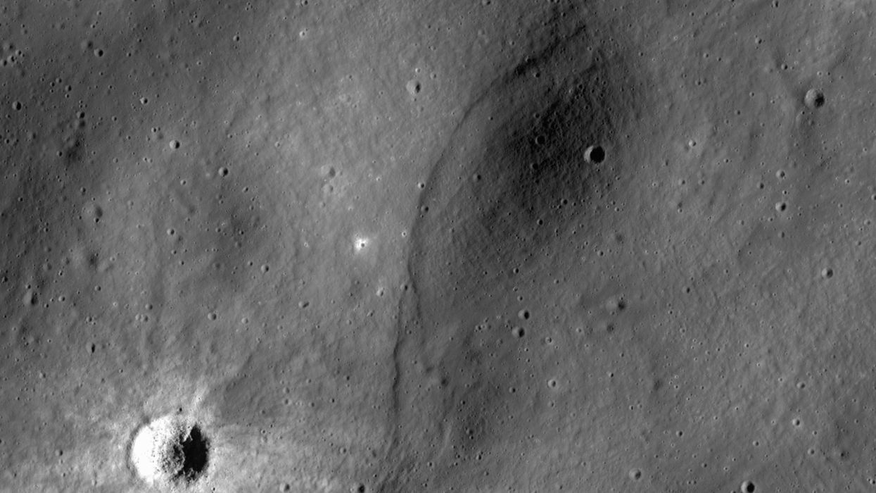The moon is shrinking — also, moonquakes are a thing