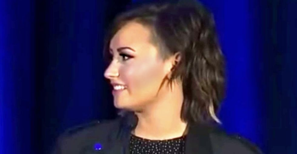 Listen to Demi Lovato's speech about mental illness.