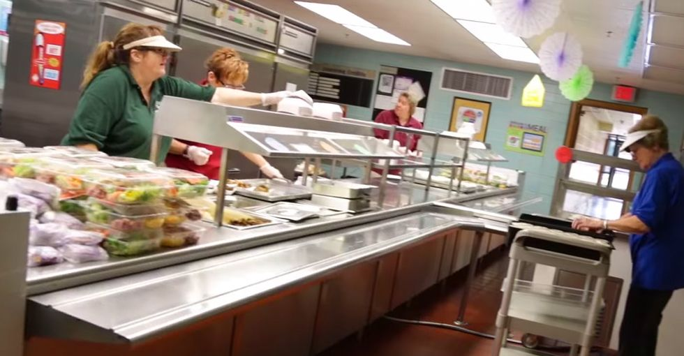When Lunch Is Over, These Lunchroom Staffers Can't Wait To Get Their Mitts On What Kids Didn't Eat