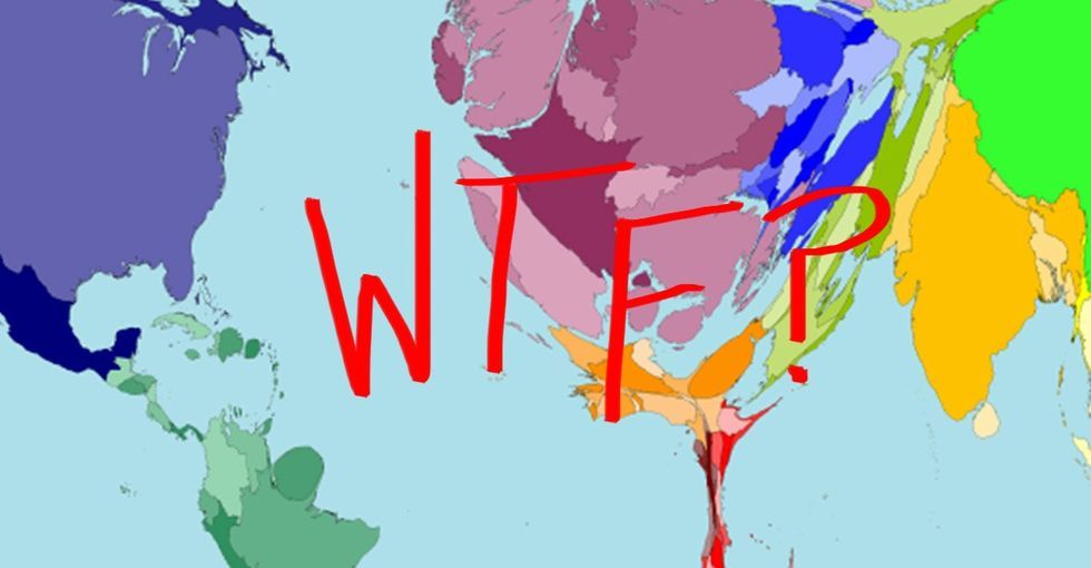 A map of the world that'll make you do *at least* a quadruple take.
