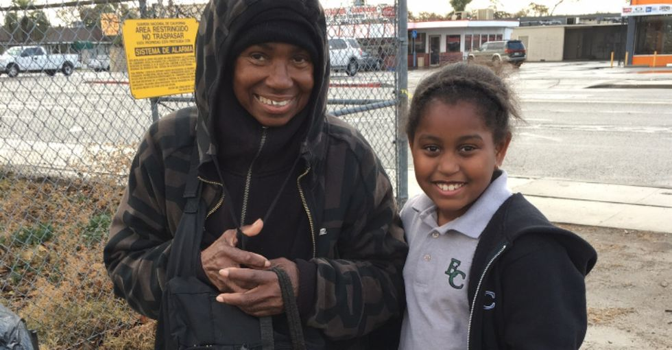 Meet the 9-year-old who's sewing beautiful bags for L.A.'s homeless women.