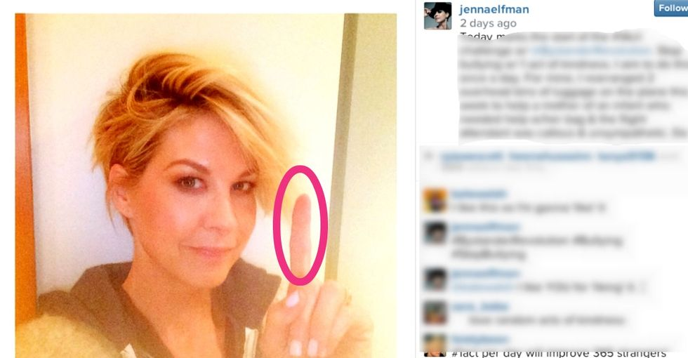 Why Putting Your Finger In Your Selfie Will Give You A Warm, Fuzzy Feeling Inside