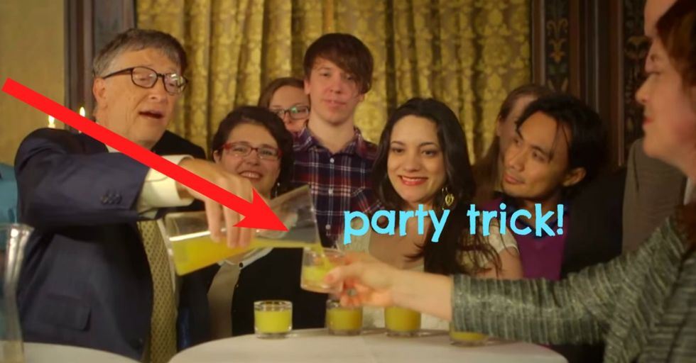 Watch the people at this party get quite an unexpected lesson about shots.