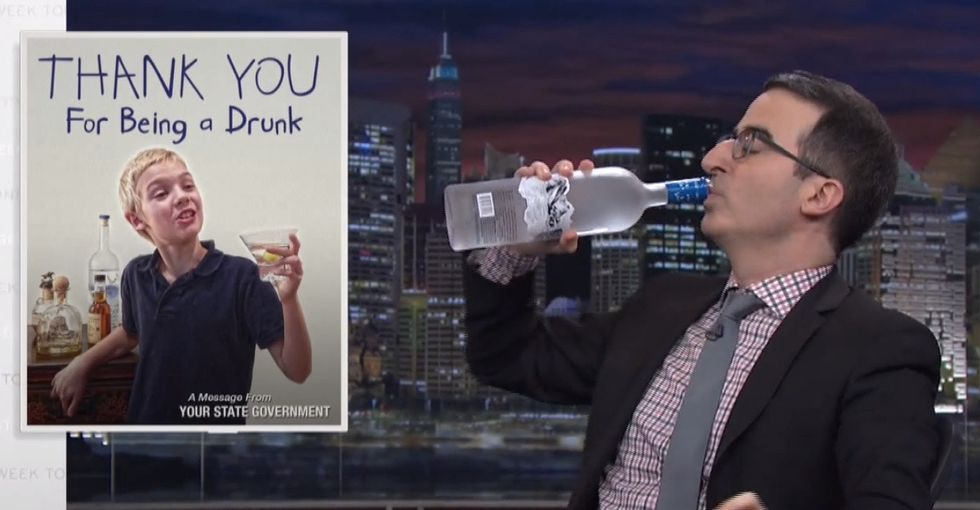 John Oliver Chugs Some Vodka To Prove A Point About America's Horrible Education Scam, The Lottery