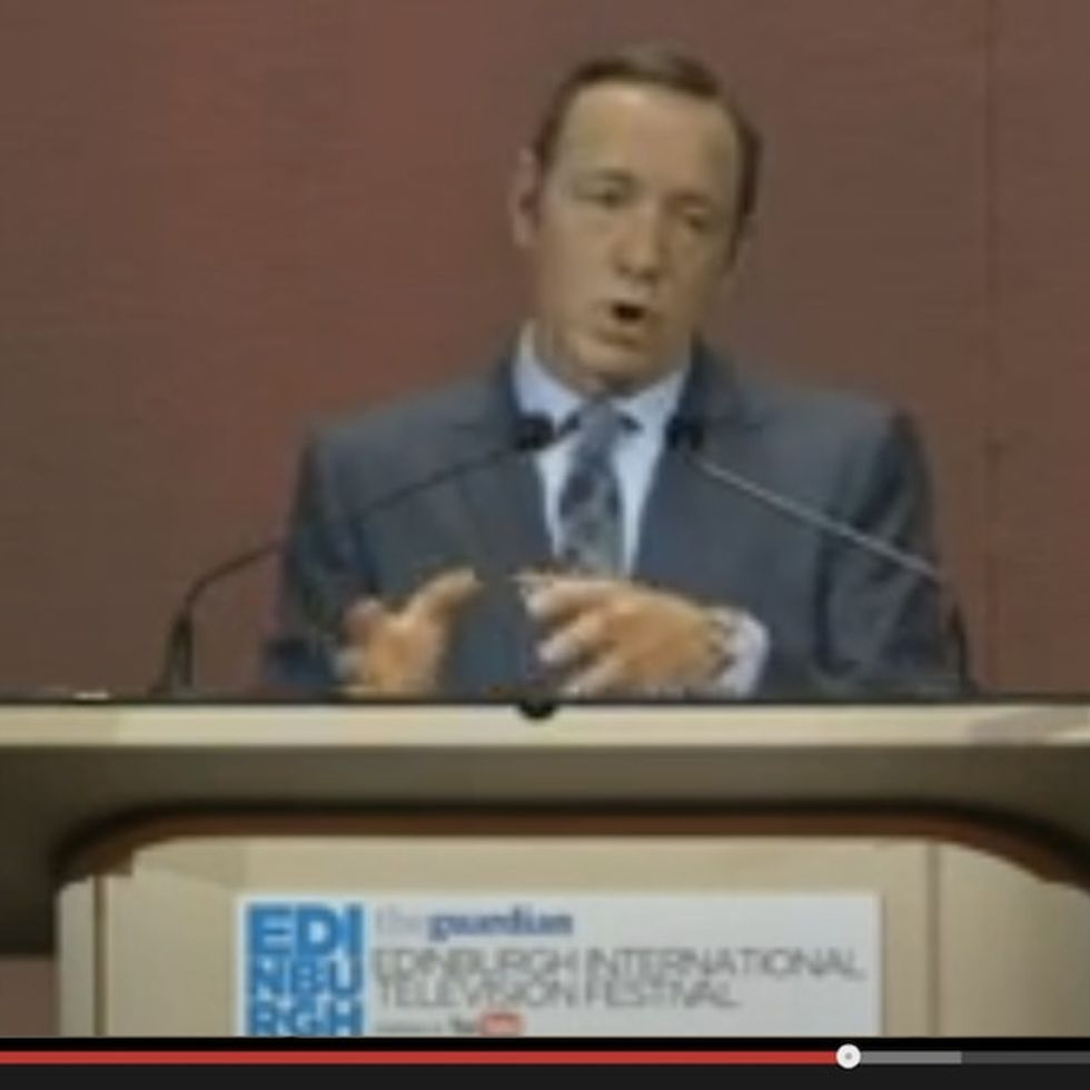 Kevin Spacey Predicts The Future. Mainstream Media Could Be In Serious Trouble.