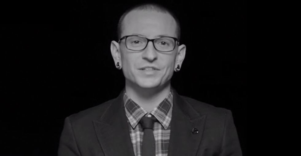 Linkin Park's frontmen want fans to show up for something bigger than any stadium concert.