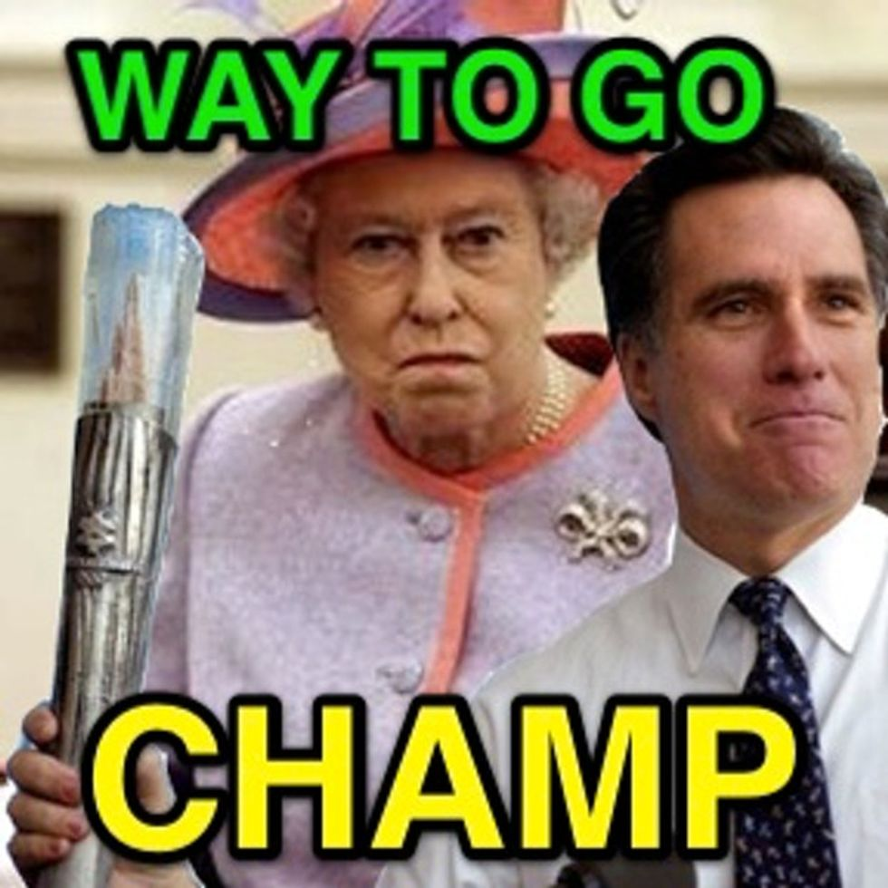 I like Mitt's new strategy of being out of touch internationally rather than just here at home.