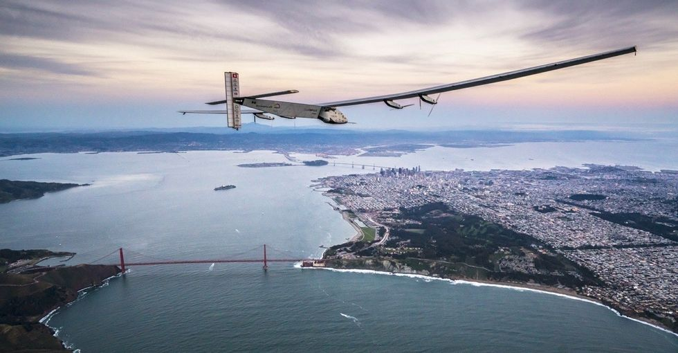 If you wanted to fly around the world, how much fuel would you need? The answer: zero.