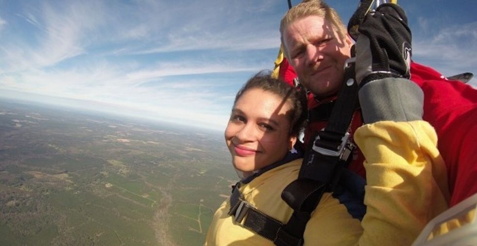 I went skydiving twice — in two genders. Here's what it taught me.