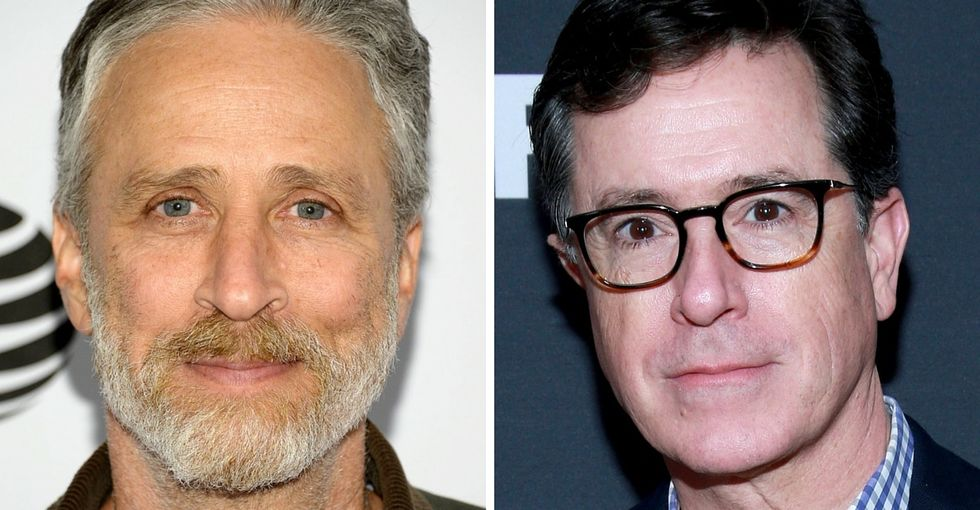 Jon Stewart and Stephen Colbert are joining forces for animals everywhere.