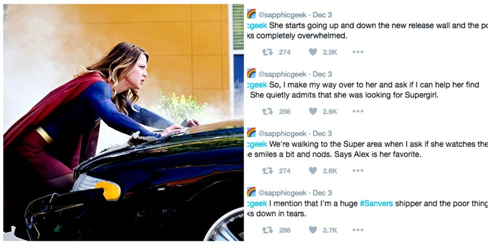 How one woman and 'Supergirl' helped a teen feel comfortable in her own skin.