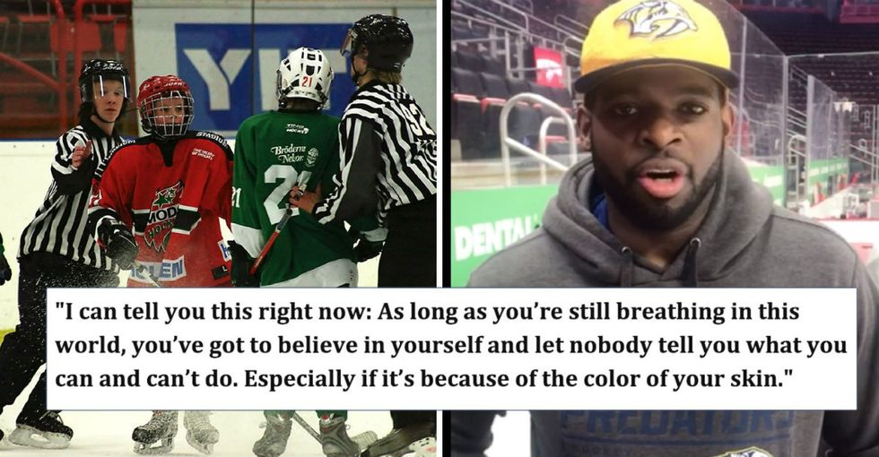 When this young hockey player was bullied by racists, his hero sent him an inspirational message.