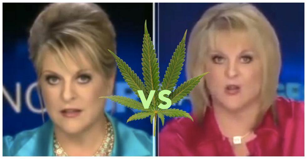 Nancy Grace loses a debate. Against herself.