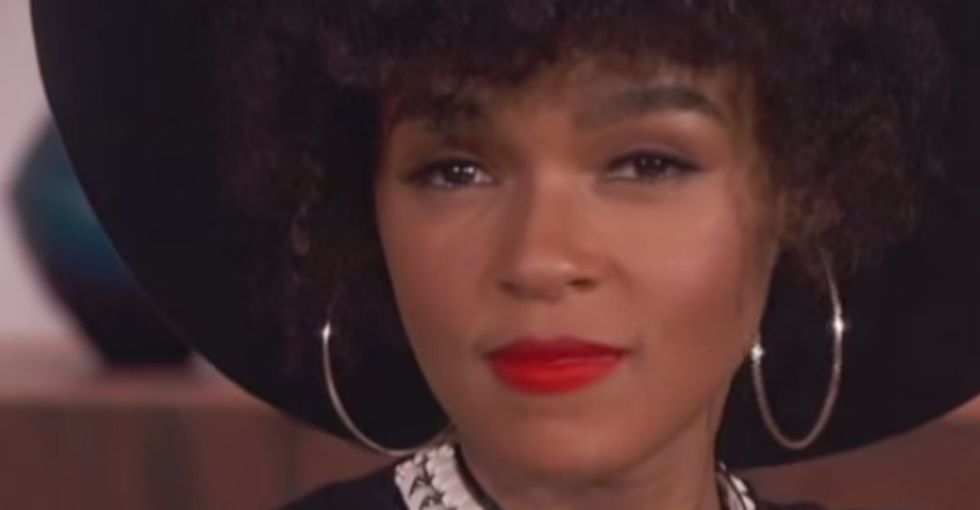 Pop star Janelle Monáe tells her young fan that she doesn't have to be perfect ... and it's perfect.