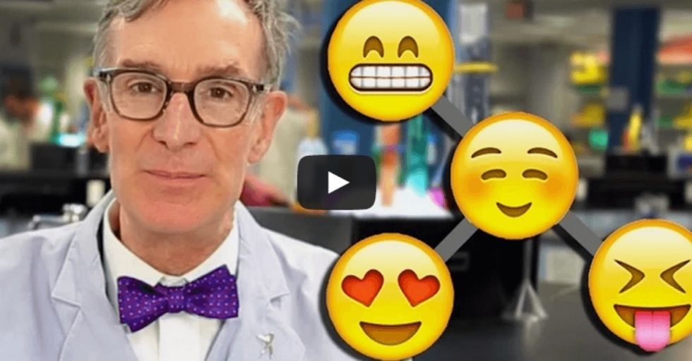 Until I saw Bill Nye do it, I wouldn't have believed evolution could be explained with emoticons.