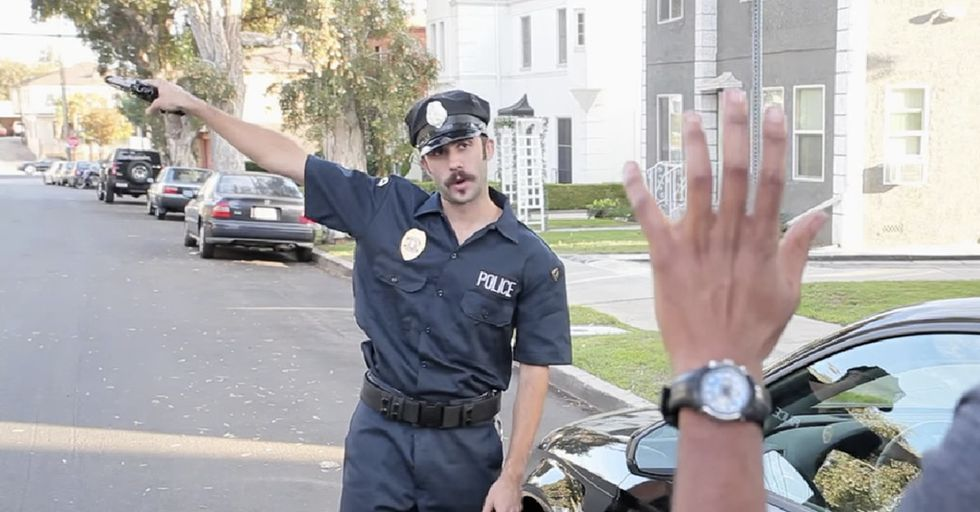A Black Man Approaches The Cops. The Cop Pulls Out His Gun. Then It Gets ... Funny.