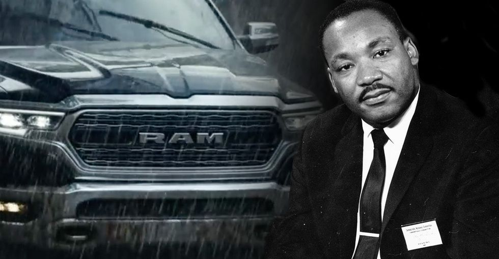 Ad execs probably should have read the full MLK speech before making that commercial.